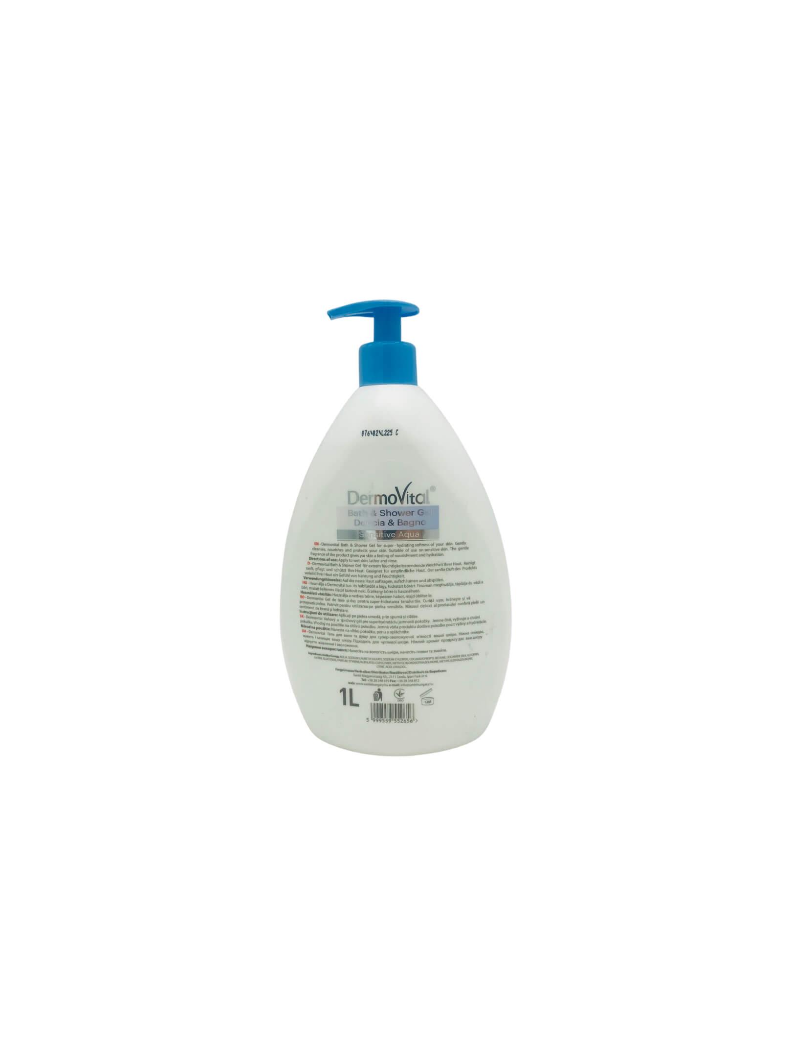 DermoVital tus- és habfürdő 1L Sensitive Aqua