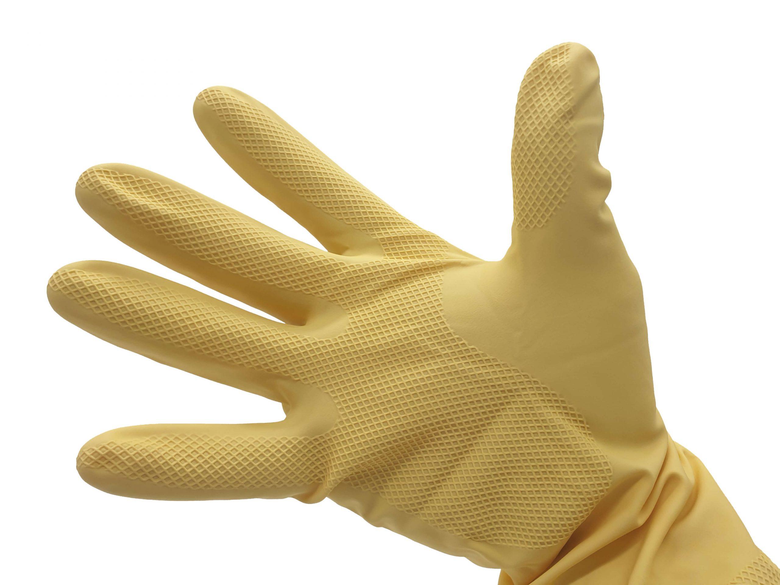 Gumikesztyű Zorex Sárga XL-es méret