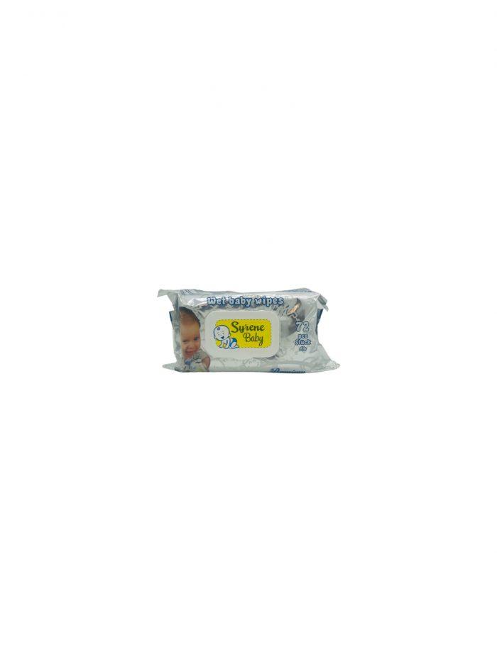 Syrene baby törlőkendő 72db-os Premium ablakos